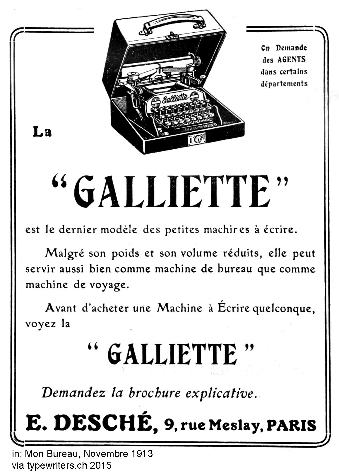 Galliette aus der französischen Fachzeitschrift Mon Bureau